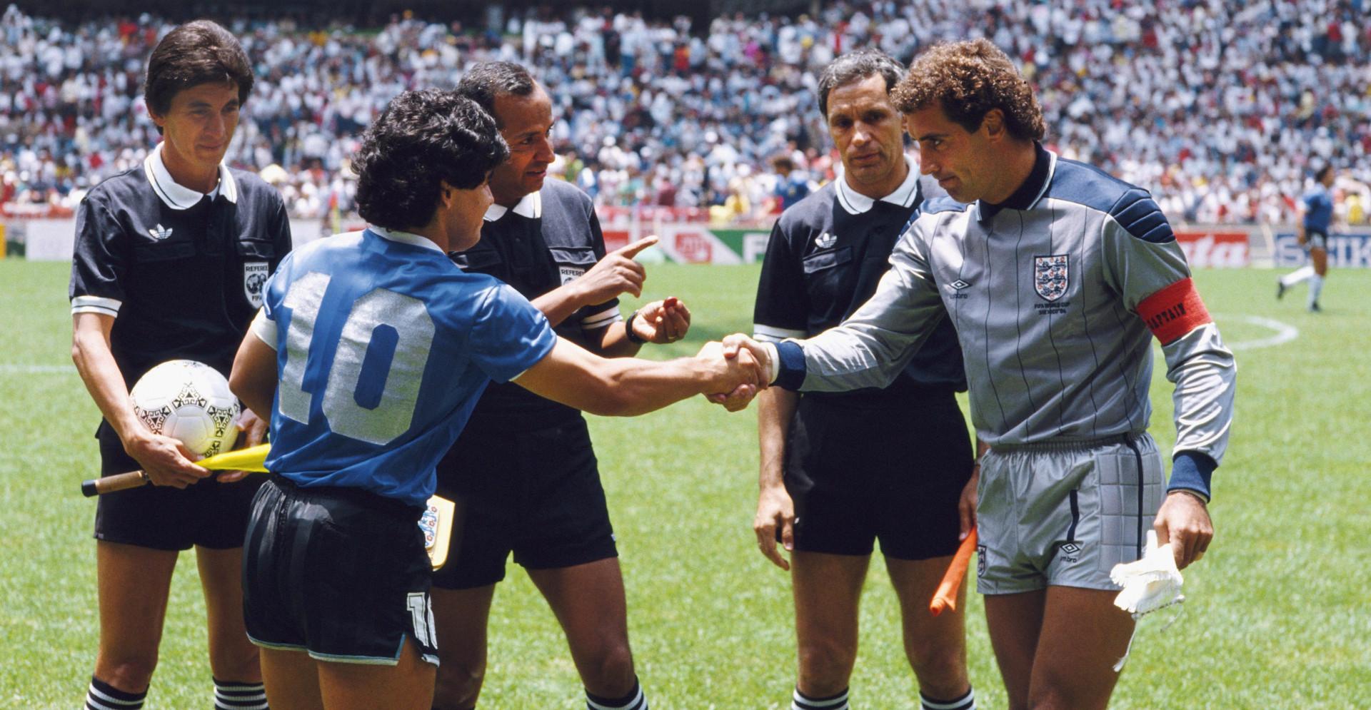 Diego Maradona and Peter Shilton Sansiri Blog