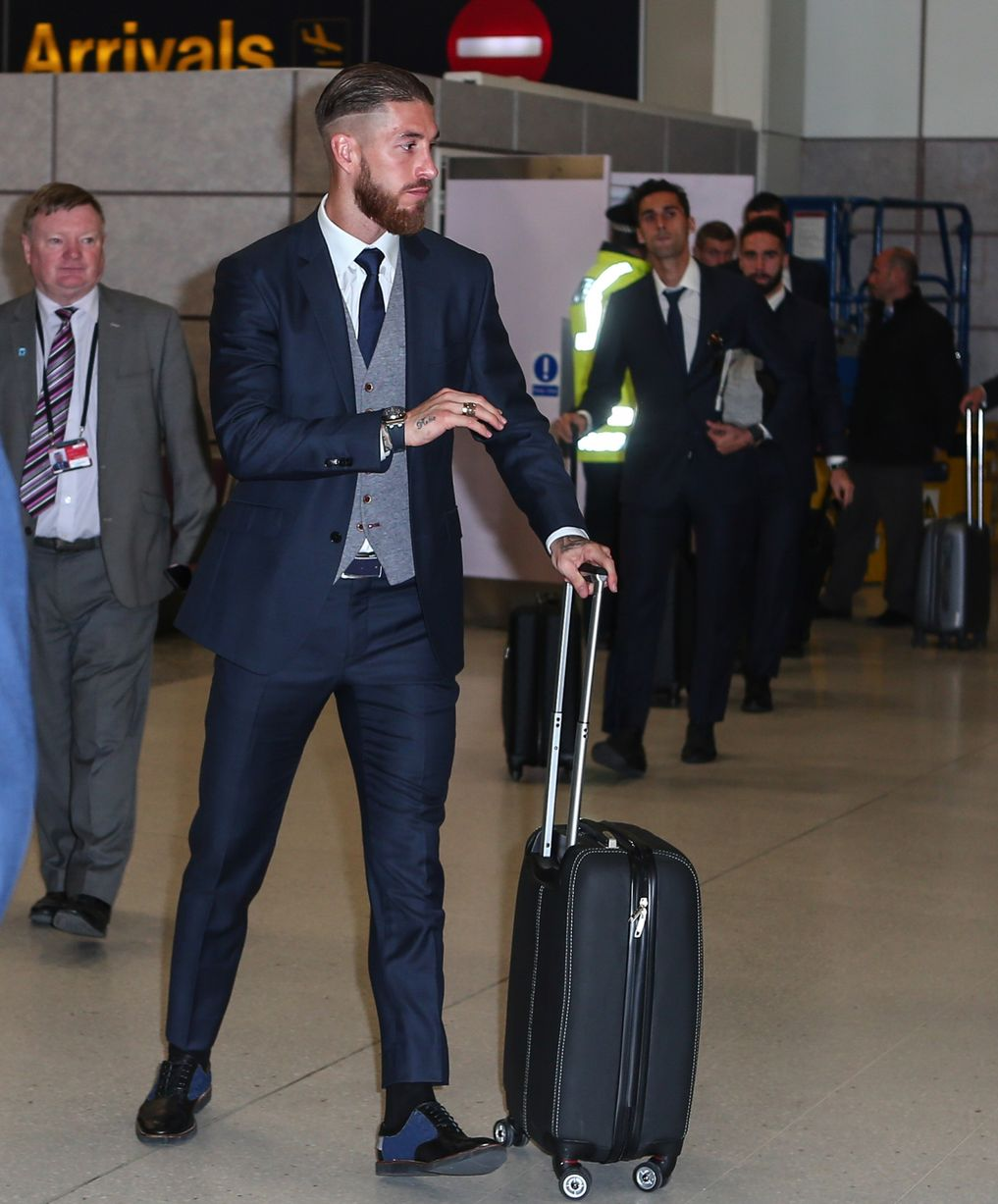 Real Madrid arrive at Manchester Airport