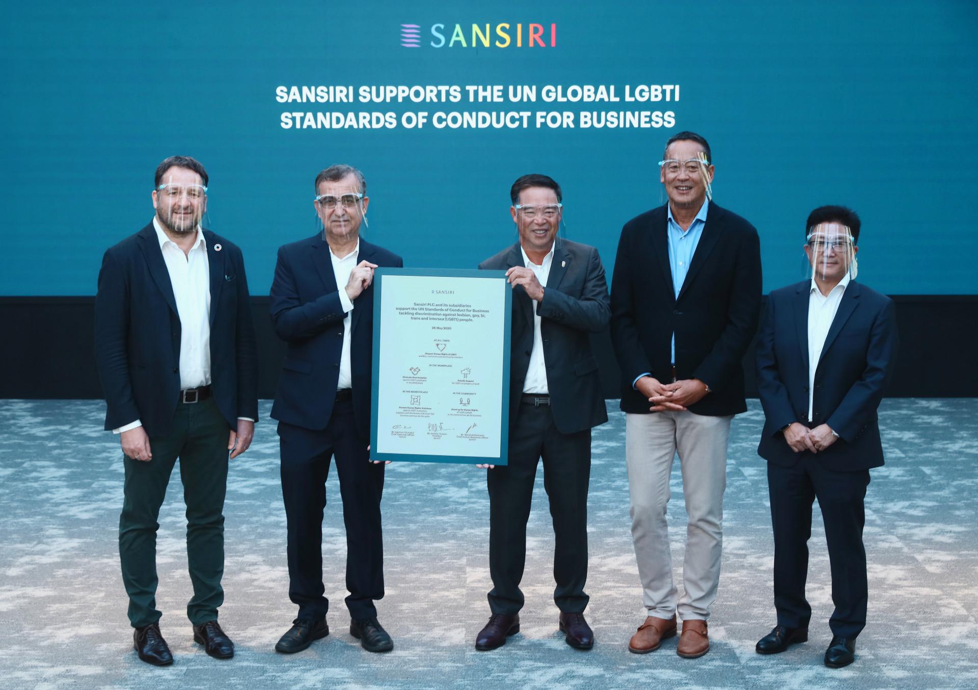Sansiri Pride Month 2020 UN ards commitment signing
